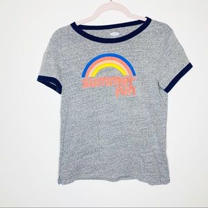 Old Navy Summer Fun Ringer Tee Size Medium